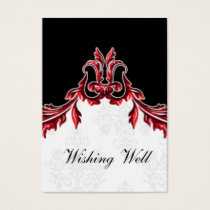 red black wishing well cards