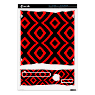 Red & Black_ Xbox 360 S Console Skins
