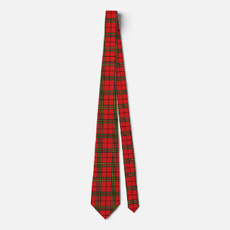 Red Black Yellow Tartan Neck Tie