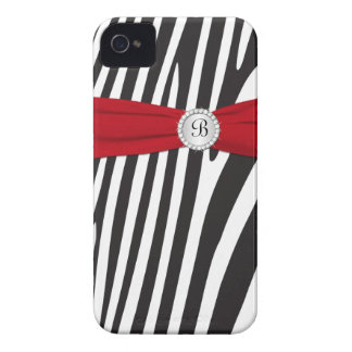 Red, Black, Zebra Stripe Blackberry Bold Case