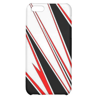 Red black zig I-phone case Cover For iPhone 5C