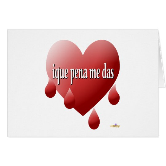 Red Bleeding Heart My Heart Bleeds For You Spanish Card