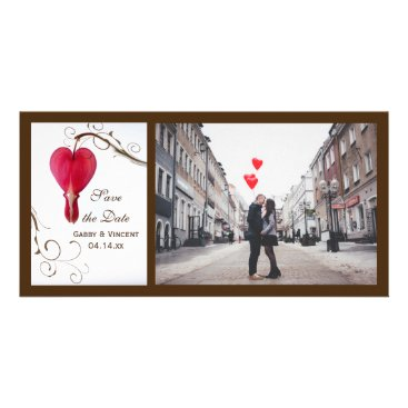 Wedding Themed Red Bleeding Hearts Wedding Save the Date Card