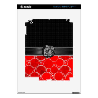 Red Bling Black Tiger Skin For iPad 3