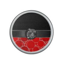 Red Bling Black Tiger Speaker