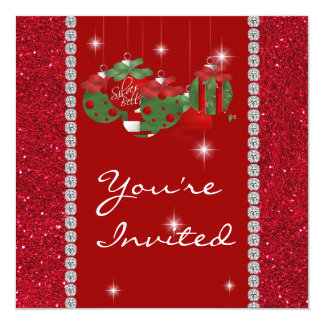 RED BLING HOLIDAY  Invitation