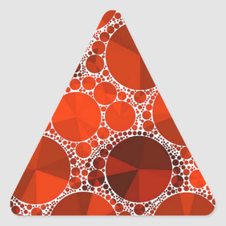 Red Bling Triangle Sticker