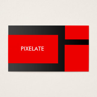 Red block graphic design business cards