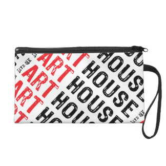 Red Block Wristlet Purse