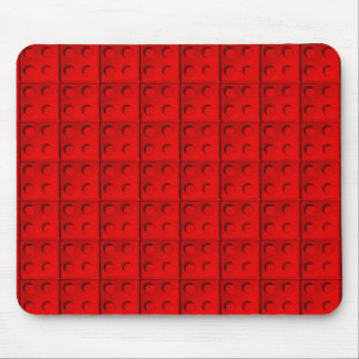 Red blocks Pattern Mouse Pad