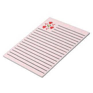 Red blocks Pattern Notepad