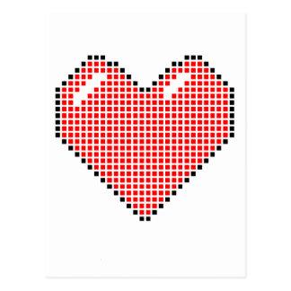 Red Blocky Heart Postcard