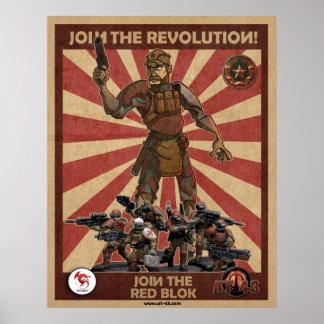 Red Blok Revolution Poster