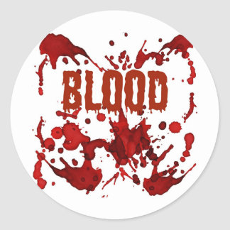 RED Blood Halloween Print Classic Round Sticker