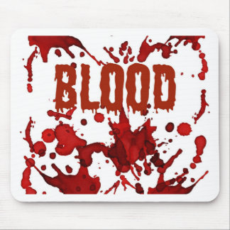 RED Blood Halloween Print Mouse Pad