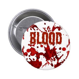 RED Blood Halloween Print Pins