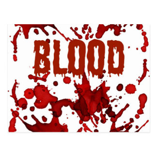 RED Blood Halloween Print Postcard