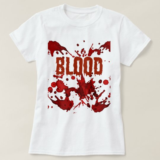 RED Blood Halloween Print T-Shirt
