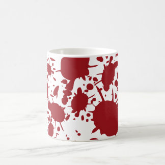 Red Blood Splatter Design Coffee Mug