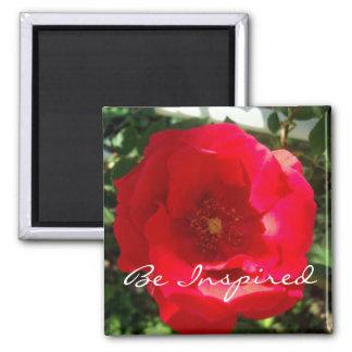 Red Bloom Inspiration Magnet
