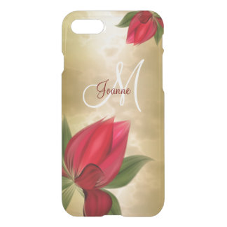 Red Blooms on Gold iPhone 8/7 Case
