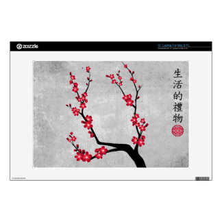"Red blossom delight ""Gift of life"" 13"" Laptop Skin"