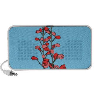 Red Blossom Travel Speakers