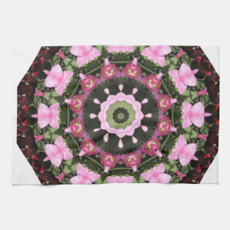 Red blossoms, Floral mandala-style Towel