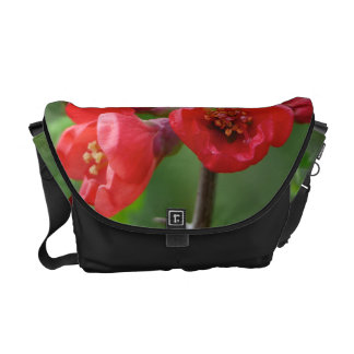 Red blossoms in spring courier bag