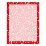Red Blossoms Letterhead Design