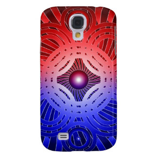 Red & Blue Abstract Circles: Samsung Galaxy S4 Cover