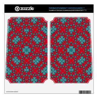 Red Blue abstract pattern Turtle Beach X41 Skins