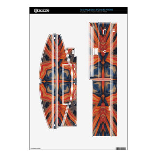 Red & Blue Abstract Pattern Skins For PS3 Console