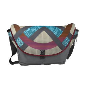 Red&Blue Abstract Snakeskin Tortoise Shell Bag Messenger Bags