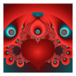 red blue abstract wall art photo art