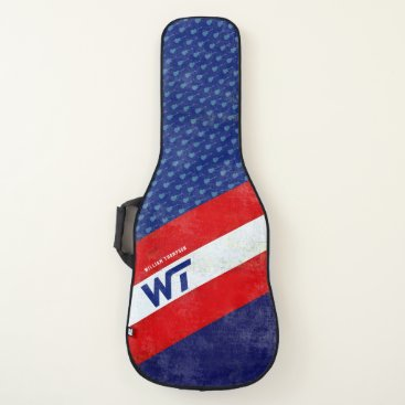 USA Themed red blue american colors striped & cool guitar case