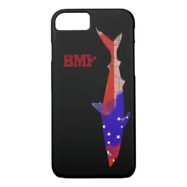 USA Themed red blue american shark personalized iPhone 7 case