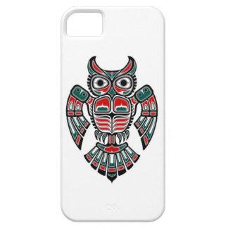 Red Blue and Black Haida Spirit Owl iPhone 5 Covers