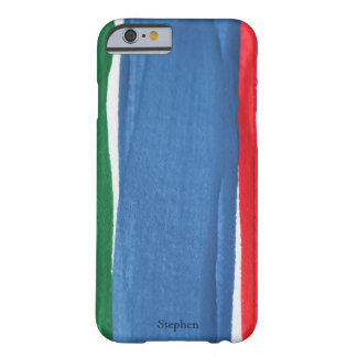 Red, blue and green paint barely there iPhone 6 case