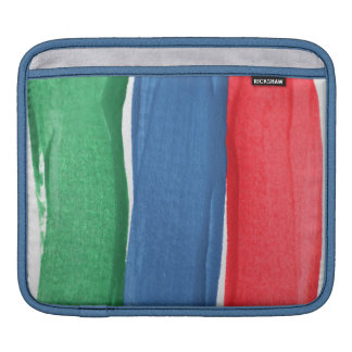 Red, blue and green paint sleeve for iPads