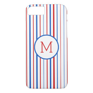 Red  Blue and White American Stripes iPhone 8/7 Case