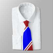 Red Blue and White Regimental Stripe Tie