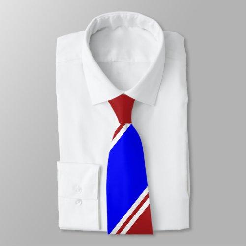 Red Blue and White Regimental Stripe Tie