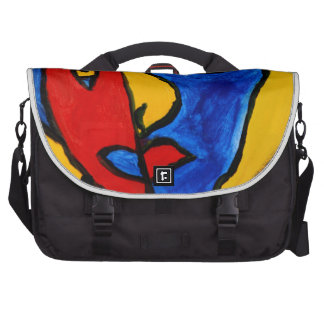 Red, Blue and Yellow Abstract Art Laptop Bag