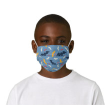 Red, Blue, and Yellow Bat Logo Pattern Kids' Cloth Face Mask
