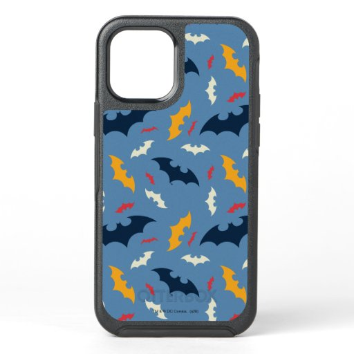 Red, Blue, and Yellow Bat Logo Pattern OtterBox Symmetry iPhone 12 Case