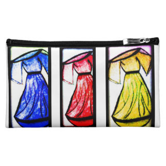 Red,Blue And Yellow Cosmetic Bag