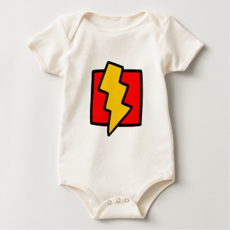 Red Blue and Yellow Lightning Bolt Baby Bodysuit