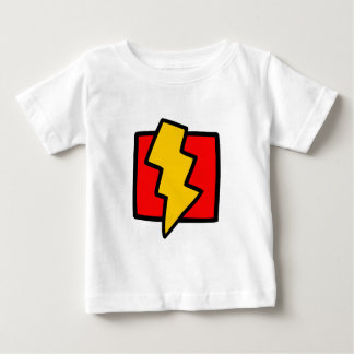 Red Blue and Yellow Lightning Bolt Baby T-Shirt