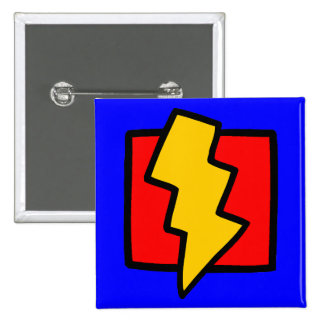 Red Blue and Yellow Lightning Bolt Pins